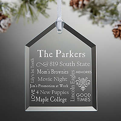 Our Family Engraved Message Christmas Ornament