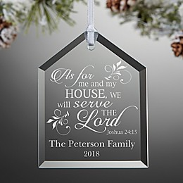 We Will Serve The Lord Engraved Christmas Ornament