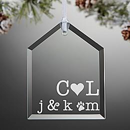 Family Initials Christmas Ornament