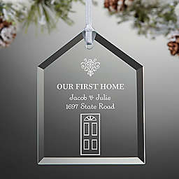 Our First Home Engraved Christmas Ornament