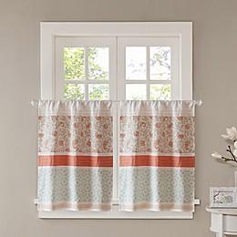 Madison Park Dawn Kitchen Window Curtain Tier Pair