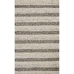 KAS Cortico Landscape Area Rug in Grey/White