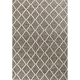 KAS Cortico Diamonds Area Rug in Dark Grey