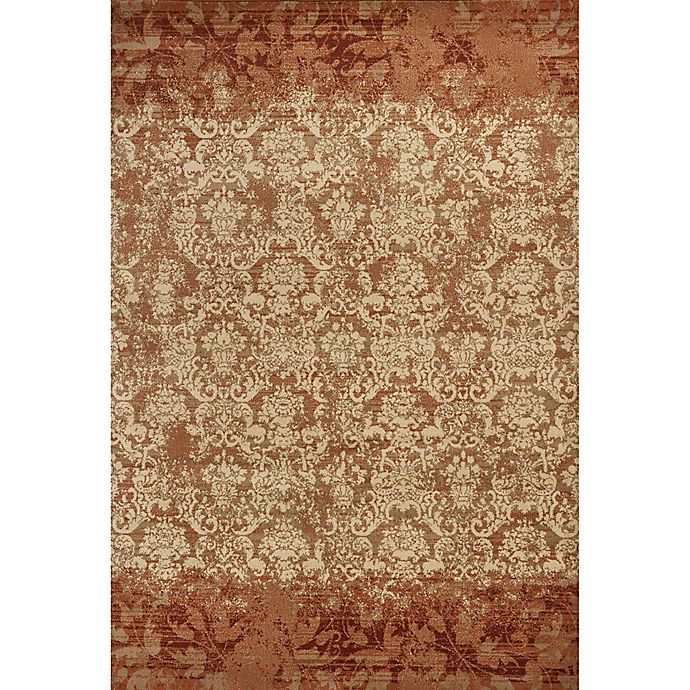 Alternate image 1 for KAS Heritage Delaney 7-Foot 7-Inch x 10-Foot 10-Inch Area Rug in Rust