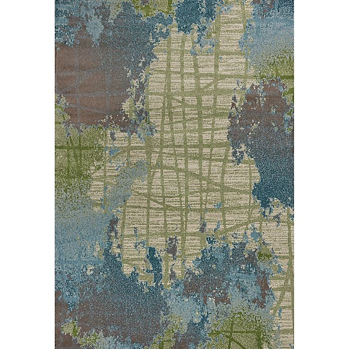 Alternate image 1 for KAS Illusions Visions 7-Foot 10-Inch x 10-Foot 10-Inch Area Rug in Green/Blue