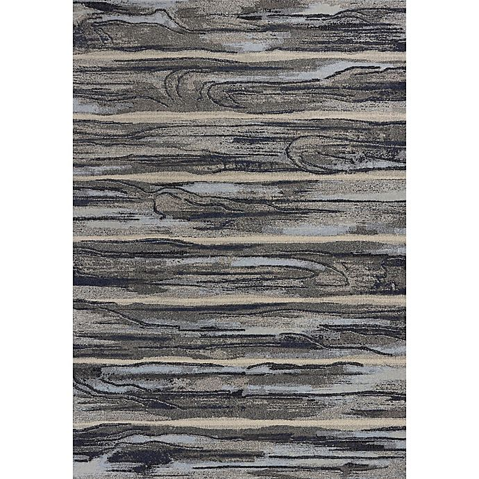 Alternate image 1 for KAS Illusions Landscape 5-Foot 3-Inch x 7-Foot 7-Inch Area Rug in Grey
