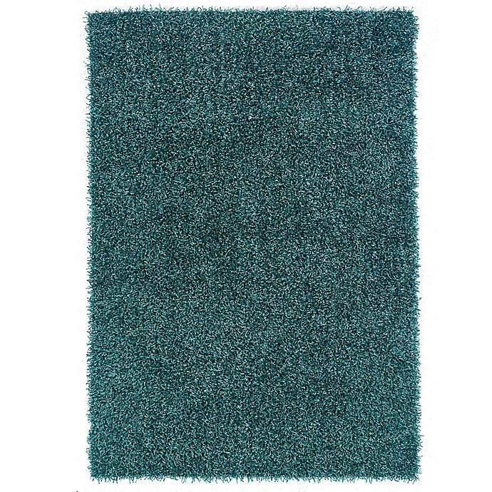 Alternate image 1 for Linon Home Confetti 1-Foot 10-Inch x 2-Foot 10-Inch Accent Rug in Turquoise