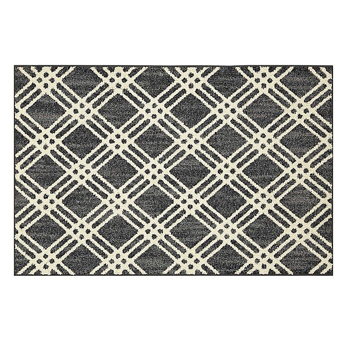 Alternate image 1 for Mohawk Home® Signature Diamond Cross Washable Rug