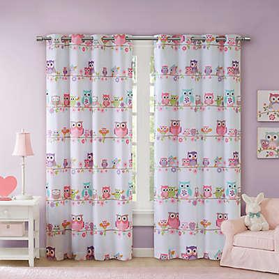 Mi Zone Kids Wise Wendy Owl Room Darkening Window Curtain Panel