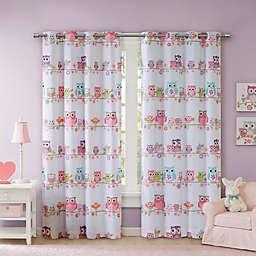 Mi Zone Kids Wise Wendy Owl Room Darkening Grommet Window Curtain Panel