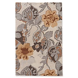 Jaipur Blue Collection Floral Rug in Ivory/Yellow