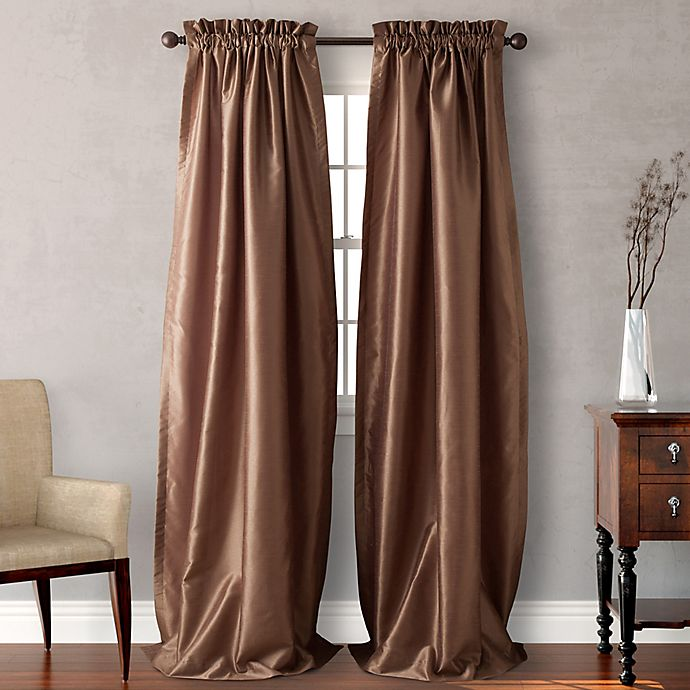 Alternate image 1 for Heritage Landing Rod Pocket 108-Inch Window Curtain Panel Pair in Taupe