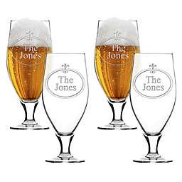 Carved Solutions Fleur de Lis Cervoise Glasses (Set of 4)