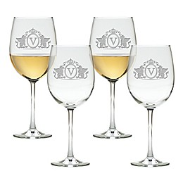 Carved Solutions Griffin Tulip Wine Glasses (Set of 4)