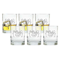 Carved Solutions Mr. & Mrs. Double Old-Fashioned Glasses (Set of 6)