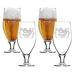 Carved Solutions Mr. & Mrs. Cervoise Glasses (Set of 4)