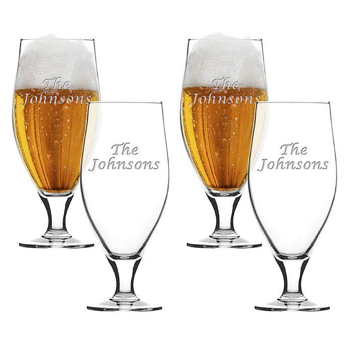 Alternate image 1 for Carved Solutions Multi Name Cervoise Glasses (Set of 4)