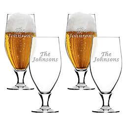 Carved Solutions Multi Name Cervoise Glasses (Set of 4)