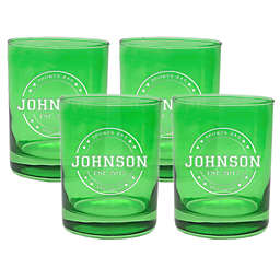 Carved Solutions Sports Bar Double Old Fashioned Glasses (Set of 4)