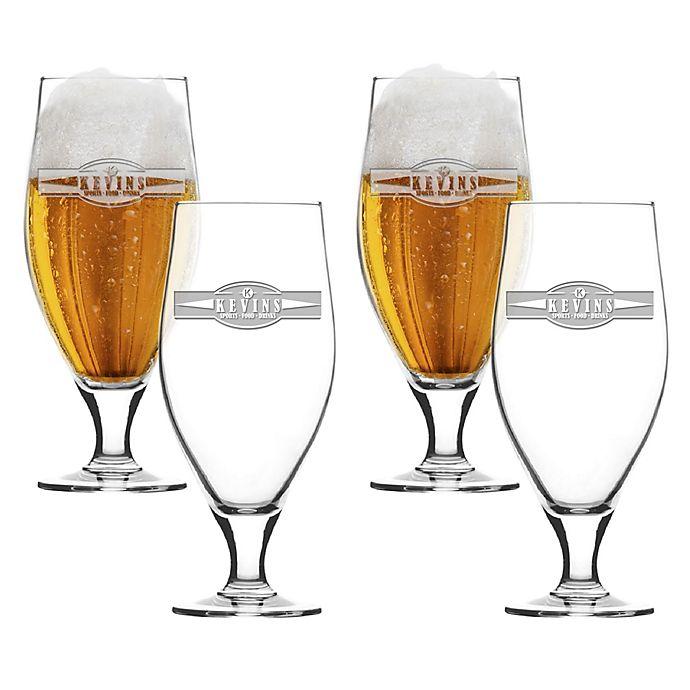 Alternate image 1 for Carved Solutions Sports Food Cervoise Glasses (Set of 4)