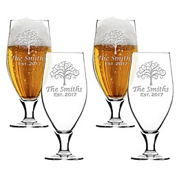 Carved Solutions Tree of Life Cervoise Glasses (Set of 4)