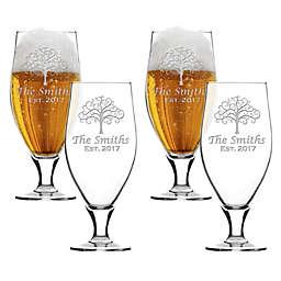 Carved Solutions Tree of Life Cervoise Glasses (Set of 4)