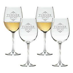 Carved Solutions Turner Tulip Wine Glasses (Set of 4)