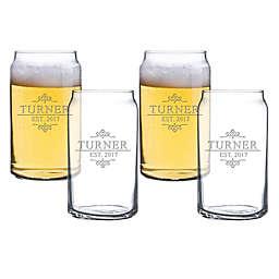 Carved Solutions Turner Beer Can Glasses (Set of 4)