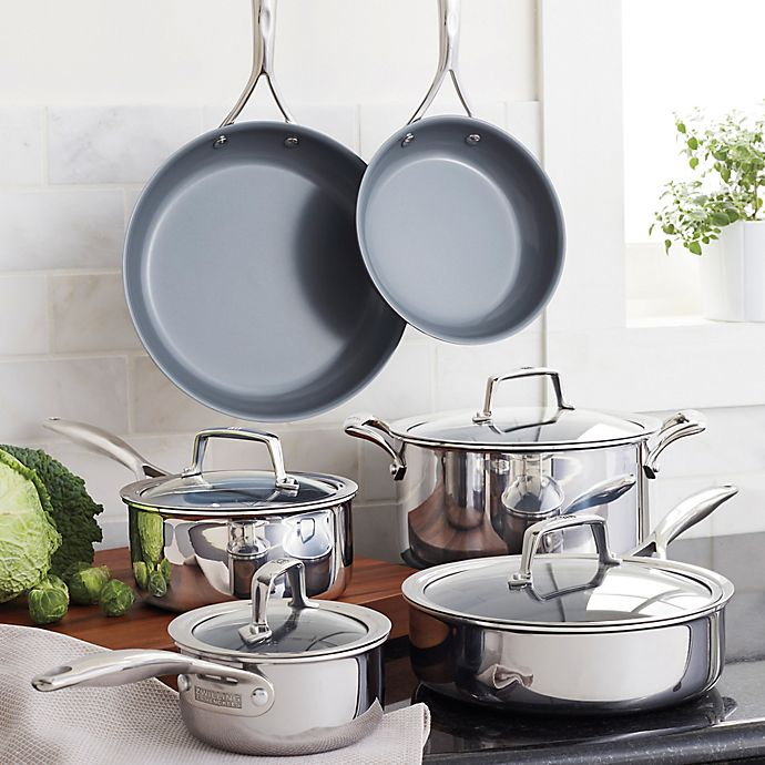 Alternate image 1 for Zwilling J.A. Henckels  Energy 10-Piece Ceramic-Coated Stainless Steel Cookware Set and Open Stock