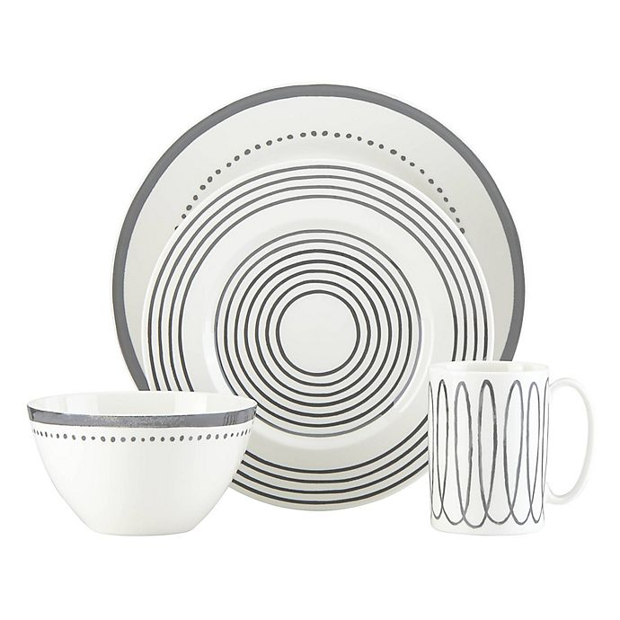 Alternate image 1 for kate spade new york Charlotte Street™ West 4-Piece Place Setting in Slate