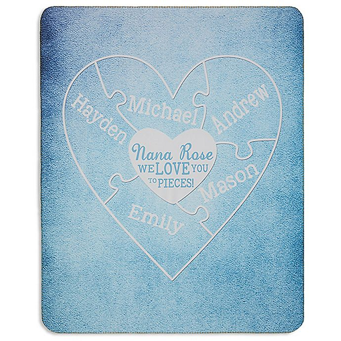 Alternate image 1 for We Love You To Pieces 50-Inch x 60-Inch Premium Sherpa Throw Blanket