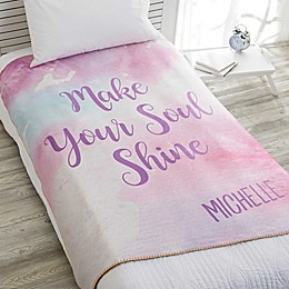 Watercolor 60-Inch x 80-Inch Premium Sherpa Throw Blanket