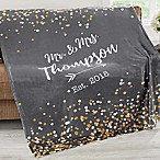 Sparkling Love 60-Inch x 80-Inch Fleece Throw Blanket