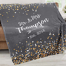 Sparkling Love 60-Inch x 80-Inch Fleece Throw Blanket