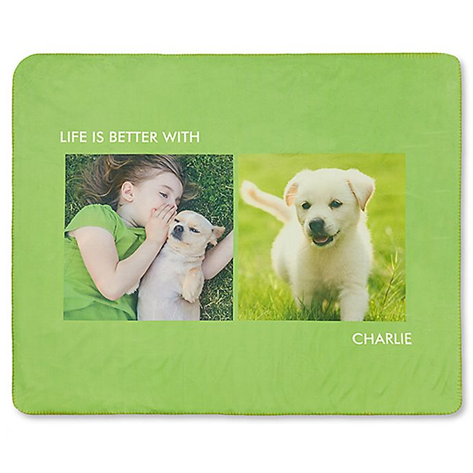 Alternate image 1 for Picture Perfect 2-Photo 50-Inch x 60-Inch Premium Sherpa Throw Blanket