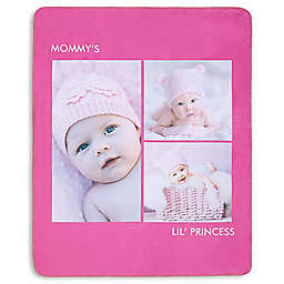 Picture Perfect 3-Photo Premium Sherpa Throw Blanket
