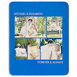 Picture Perfect 5-Photo Premium Sherpa Throw Blanket