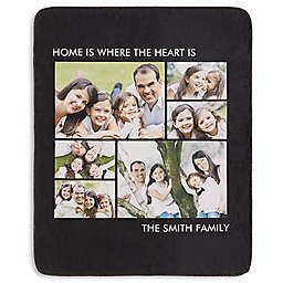 Picture Perfect 6-Photo Premium Sherpa Throw Blanket