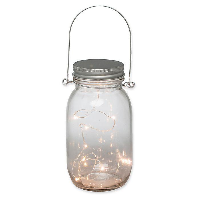 Alternate image 1 for 6.9-Inch 10-Light LED Battery Operated Mason Jar