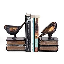 Danya B. Birds on Books Bookend Set in Bronze
