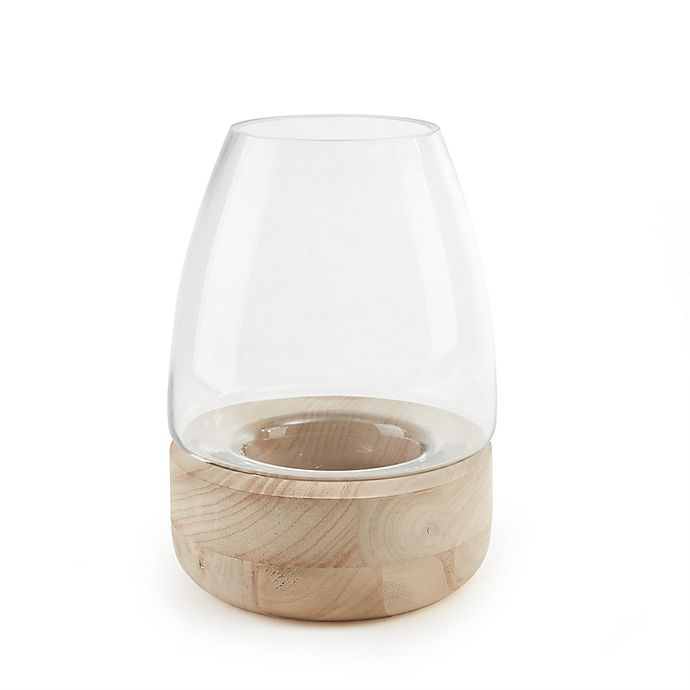 Alternate image 1 for Danya B. Bullet Glass Vase Candle Holder on Wooden Stand