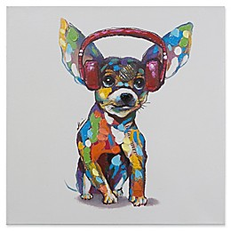Dog Beats IV Mixed Media 24-Inch Square Canvas Wall Art