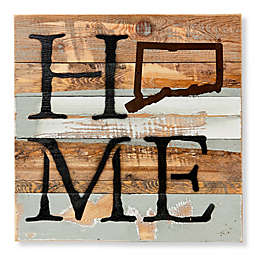 Sweet Bird & Co.™ Connecticut Home State 14-Inch x 14-Inch Reclaimed Wood Wall Art