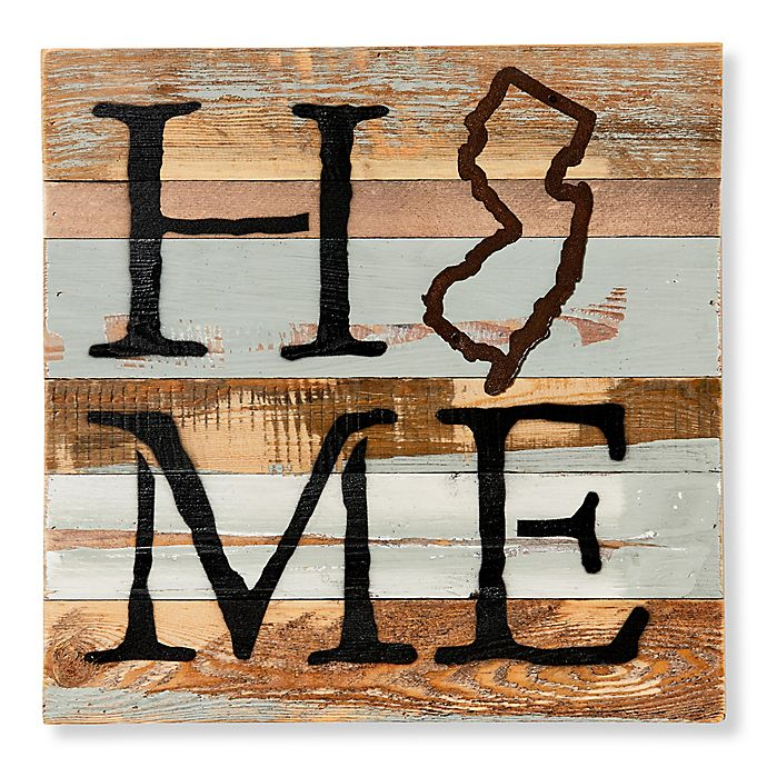 State Reclaimed Wood Wall Art