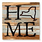 Sweet Bird & Co. New York Home State Reclaimed Wood Wall Art