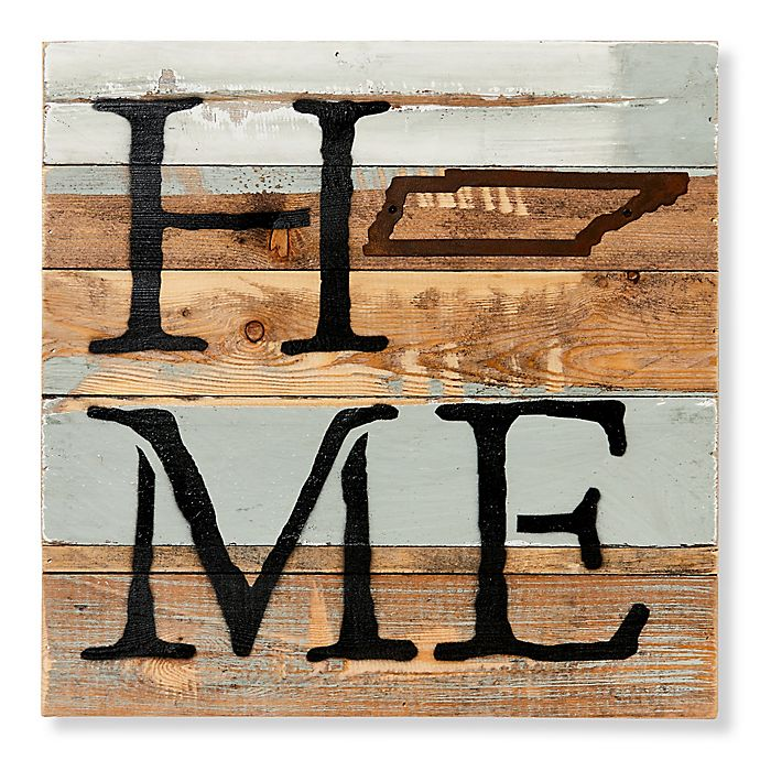 Sweet Bird Co Tennessee Home State Reclaimed Wood Wall