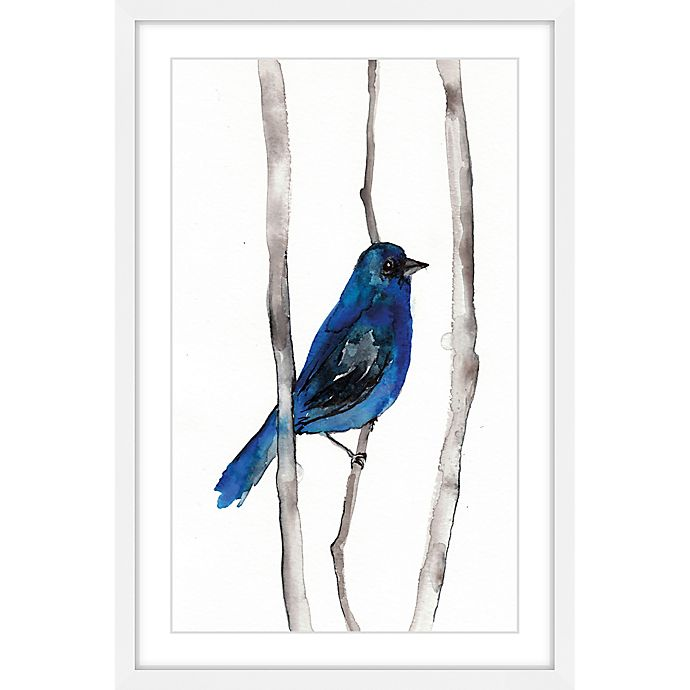 Alternate image 1 for Marmont Hill Indigo Bunting 20-Inch x 30-Inch Framed Wall Art