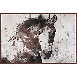 Marmont Hill Gorgeous Horse Framed Wall Art