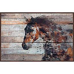 Marmont Hill Fire Horse Framed Canvas Wall Art