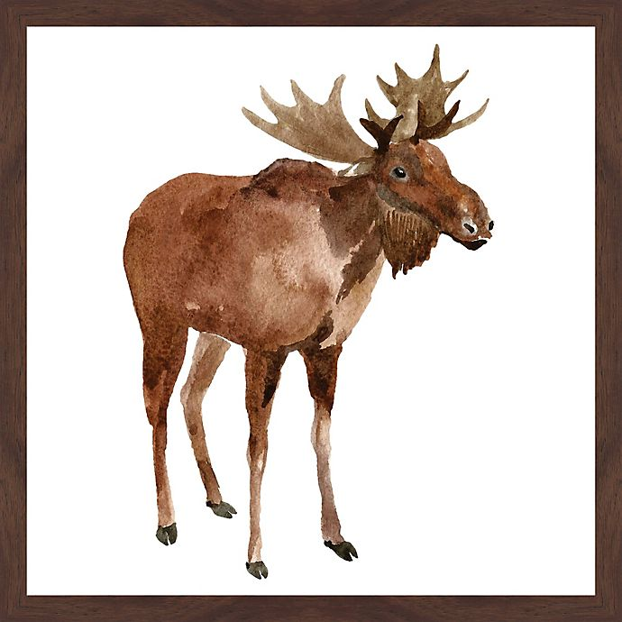 Alternate image 1 for Marmont Hill Moose Stance 18-Inch x 18-Inch Framed Wall Art